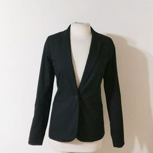 Mossimo Black One Button Fitted Blazer Jacket